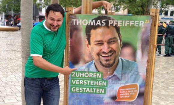 Wahlplakat Thomas Pfeiffer